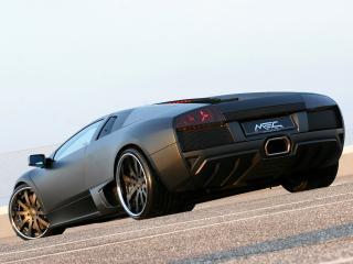 обои Unicate Lamborghini Murcielago LP 640 Yeniceri Edition черная сзади фото