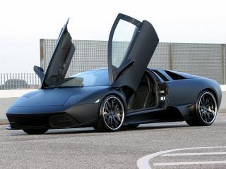 обои Unicate Lamborghini Murcielago LP 640 Yeniceri Edition черная спереди фото