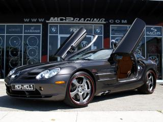 обои MCP Racing Mercedes-Benz SLR McLaren (C199) бок фото