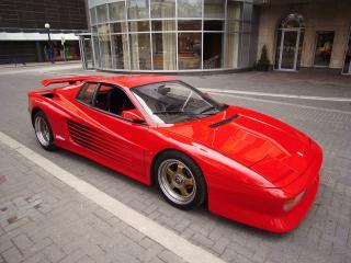 обои Koenig Ferrari 512 Testarossa Spider красная фото
