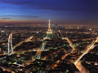 обои Ночной Париж открывает красоту фото