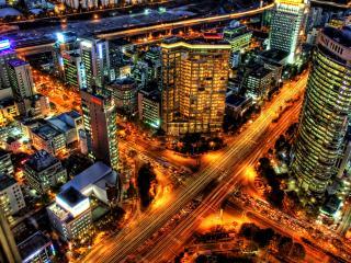 обои Величественность ночного города фото