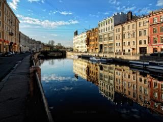 обои Лето, город и канал фото
