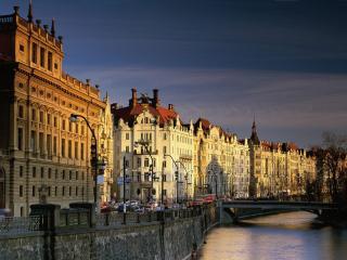 обои Чехия в закате фото