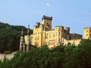 обои Форт замок на берегу фото