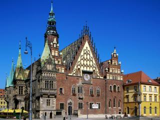 обои Чешский костел небльшого городка фото
