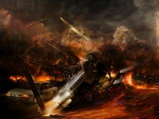 обои Авто во время катастрофы фото