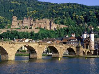 обои Чехия мост замок фото