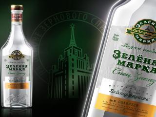 обои Зеленая марка бутылка фото