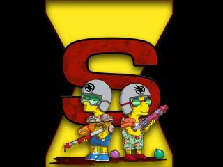 обои Bart and Millhouse бойцы фото