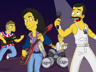 обои Simpsons Queen концерт фото