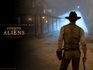 обои Cowboys & Aliens спина фото