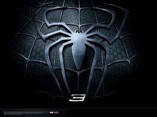обои Spider-Man 3 черное лого фото