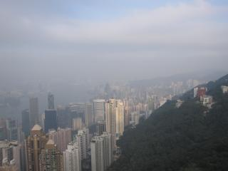 обои Гонгконг в тумане фото