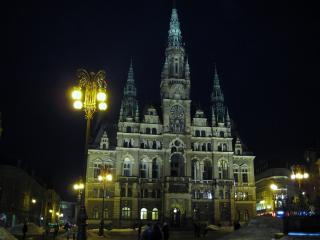 обои Ночь фонари собор Европа фото