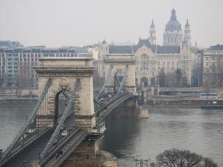 обои Европа зима мост город фото