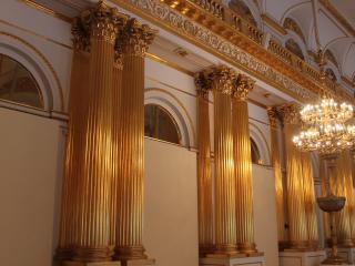обои Архитектурная роспись золотом фото