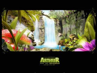 обои Артур и минипуты водопад фото