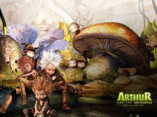 обои Артур и минипуты гриб фото