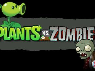 обои Plants vs. Zombies надпись фото
