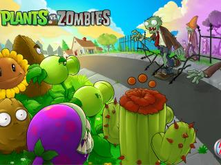 обои Plants vs. Zombies улица фото