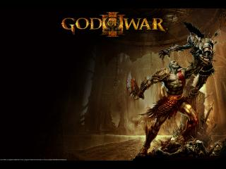 обои God of War III борьба фото