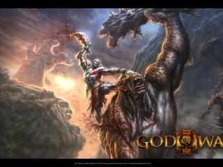 обои God of War III циклоп фото