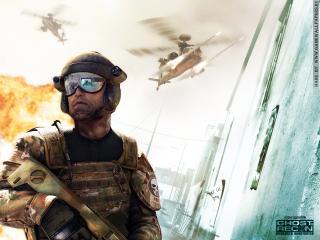 обои Ghost Recon Advanced Warfighter вертолет фото