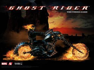 обои Ghost Rider на дороге фото