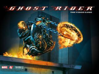 обои Ghost Rider прыжок фото
