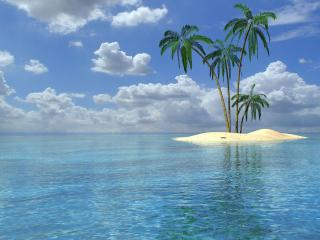 обои Островок кубинского пляжа фото
