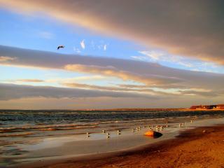 обои Полосатое небо над средиземноморьем фото