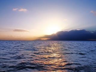 обои Морской закат летом фото