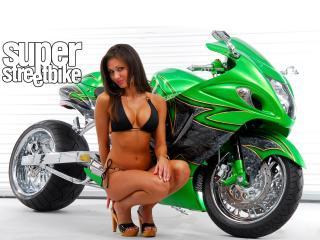 обои Summer Morgan и зеленый Suzuki фото