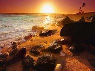 обои Закат на острове куба фото