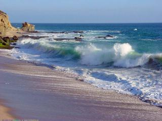 обои Море волны берег фото