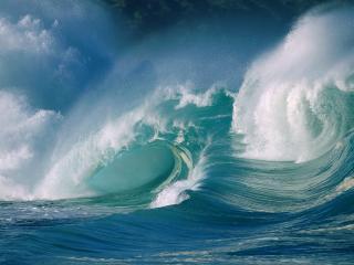 обои для рабочего стола: Шторм в океане