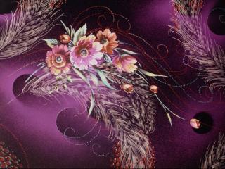обои Сказочные цветы на холсте фото