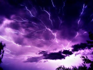обои Страшная гроза в небе фото