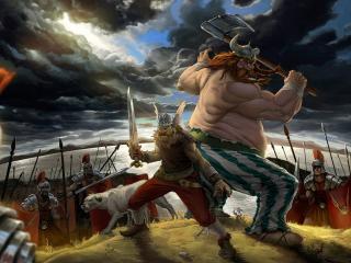 обои Галлы против римлян фото