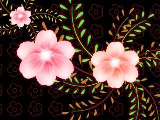 обои Трио розовый букет фото