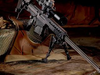 обои Снайперская винтовка с оптикой фото