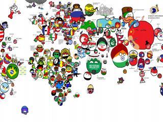 обои Смешная карта мира фото