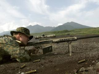 обои Снайпер на готове фото