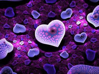 обои Сиреневое сердце фото