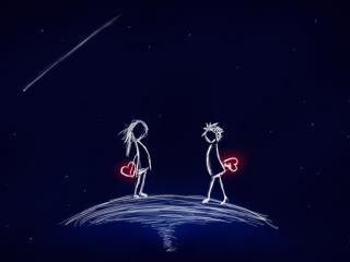 обои ЧЕловечки с сердцами фото