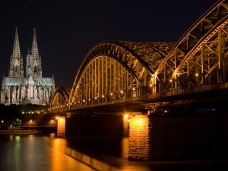 обои Ночной мост фото