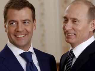 обои Дмитрий Медведев,   Владимир Путин фото