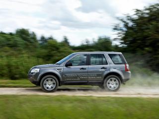 обои для рабочего стола: Land Rover Diesel ERAD Hybrid Prototype пыль