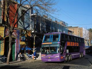 обои Busscar Scania K124 Panoramico DD 8x2 город фото